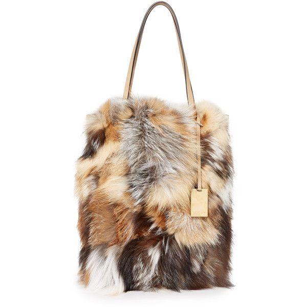 e2cfa5e43a23 Michael Kors Collection Eleanor Fur Tote ($1,750) ❤ liked on Polyvore  featuring bags, handbags, tote bags, fox fur purse, fur tote bag, tote hand  bags, ...