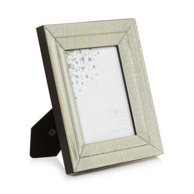 Star by Julien Macdonald Silver glitter lines faceted frame-   Debenhams