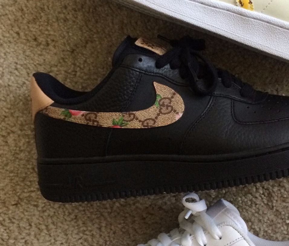 Custom Air Force 1 , Gucci Floral Monogram Print