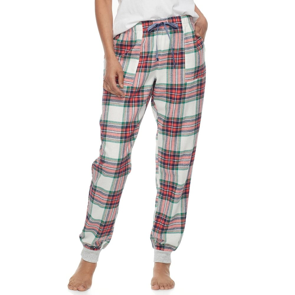 Woman red flannel outfits  Womenus SONOMA Goods for Lifeâue Pajamas Nordic Nights Flannel