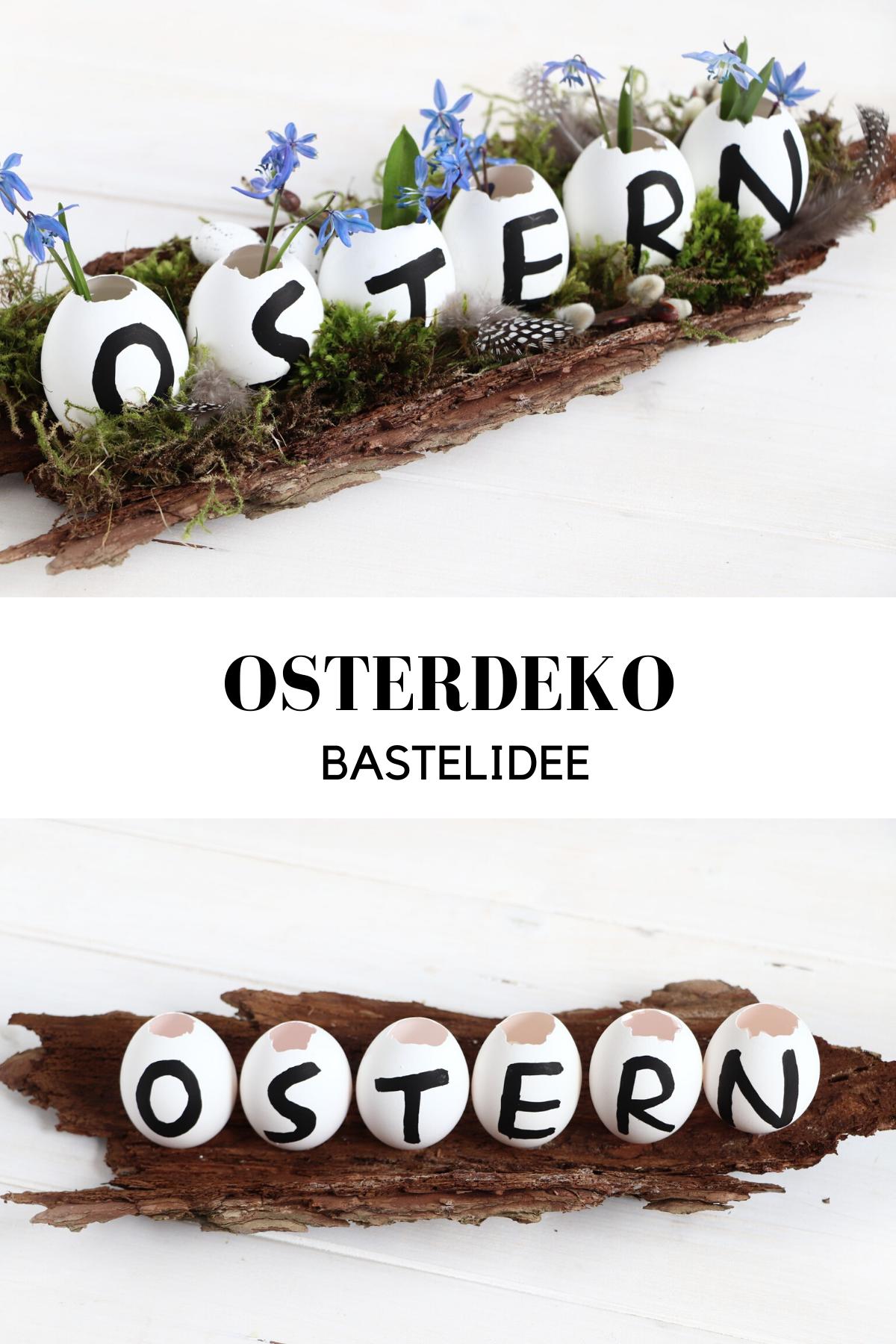 Osterdeko basteln: Tischgesteck