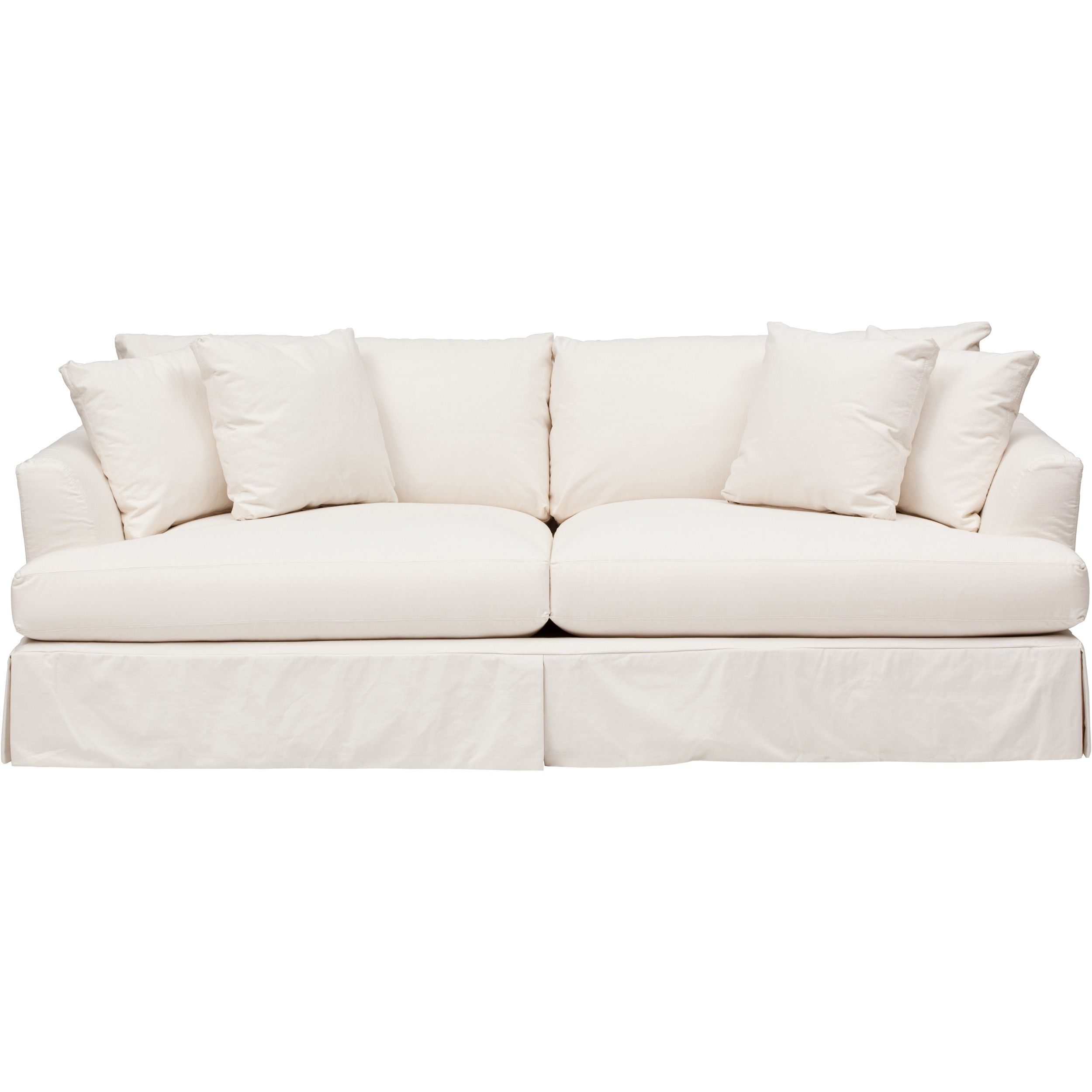 Andre Slipcover Sofa, Dyno White | House Ideas | Sofa, White sofas ...