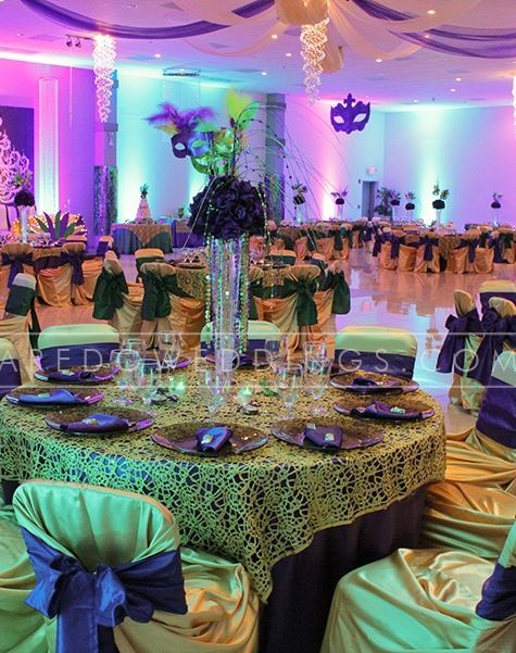 Mardi Gras Wedding Reception Ideas 1920 S Themed Tablescapes Mirage