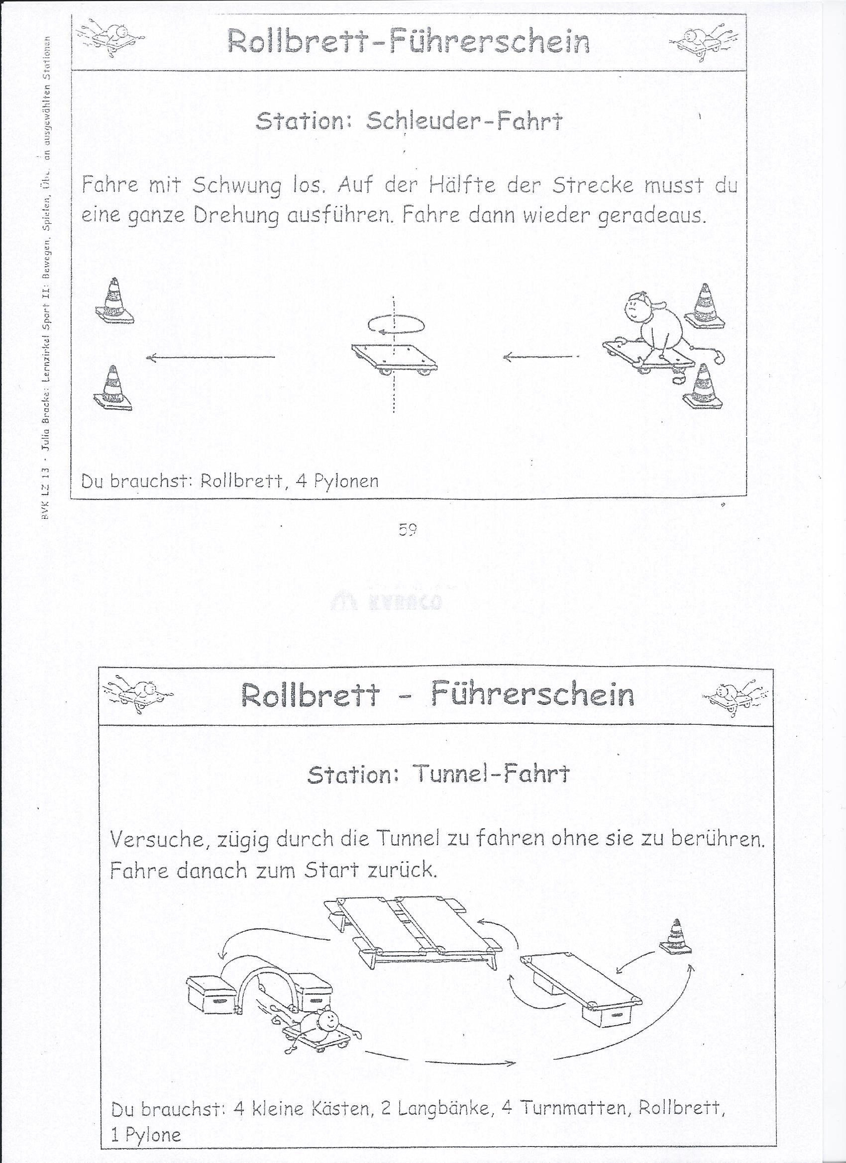 Bildergebnis für rollbrettführerschein stationen   Igre   Pinterest ...