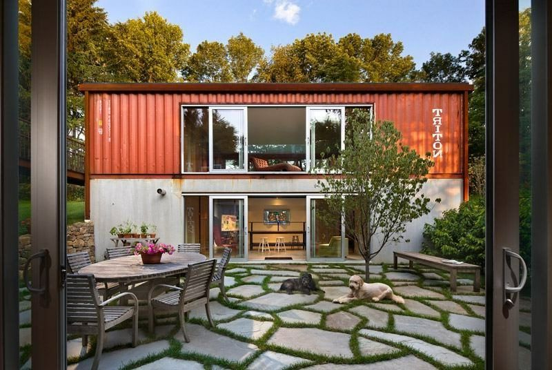 container haus das traumhafte eigenheim container. Black Bedroom Furniture Sets. Home Design Ideas