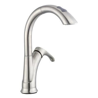Glacier Bay - Ginger Pulldown Kitchen Faucet in Brushed Nickel ...
