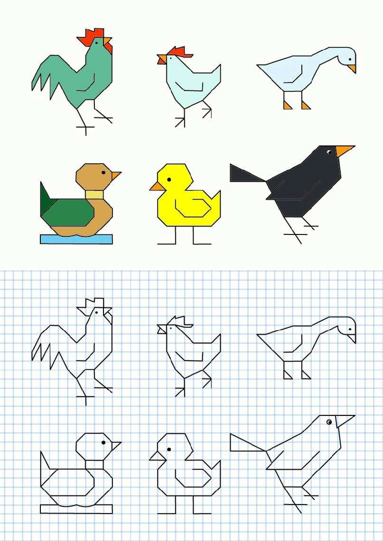 Cornicette per bambini - Cornicette per bambini a quadretti uccelli