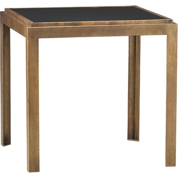 Narrow Rectangular Brass And Marble Coffee Table By Edward: Pascal Bunching Table In Side, Coffee Tables