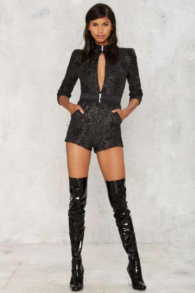 ed1fab7aa26 Zhivago Black Ops Sequin Romper - Clothes