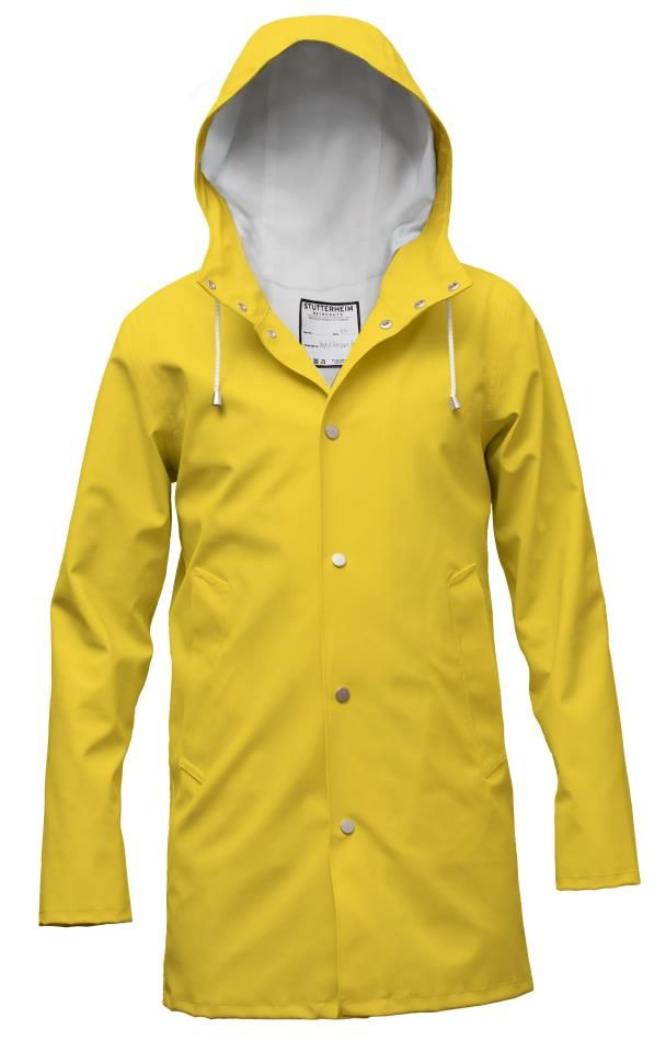 Stuttenheim Yellow Rain Coat | Mens rain jacket, Yellow