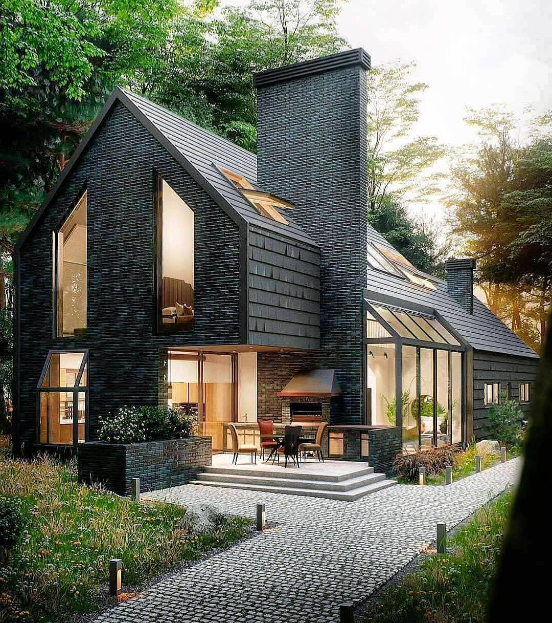 The little cabin in the woods... it\'s not small anymore, it\'s now ...
