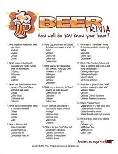 trivia beer multiple choice questions visit game games