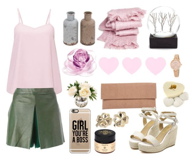 """""""Pink Charm"""" by littlemisscupcake88 ❤ liked on Polyvore featuring Brave Soul, Raoul, abcDNA, Daum, Kate Spade, Lori's Shoes, The Konjac Sponge Co, Casetify and Philip B"""