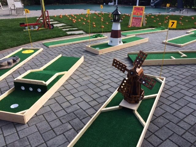 Portable Mini Golf The Big Bounce Theory Mini Golf Course Portable Mini Golf Golf Courses