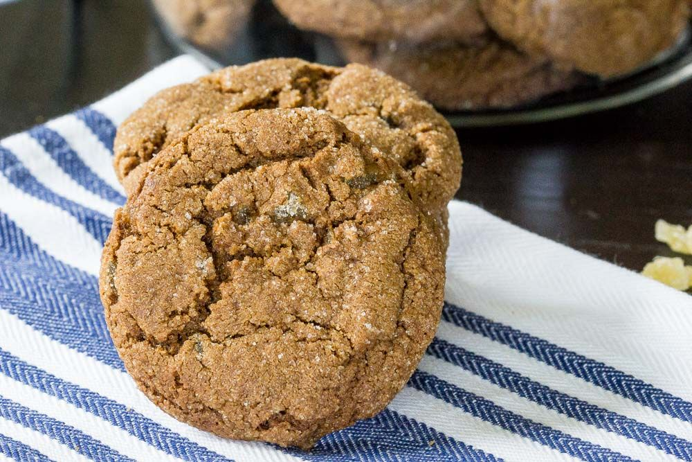 Double ginger molasses cookies are soft, spicy, and remind you of days gone by. Get the recipe.