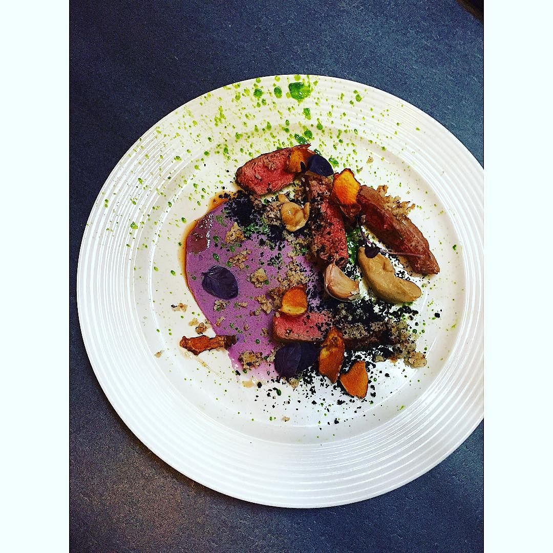 Lamb|Garlic|Olive|Artichoke|Purple potatoes|  #honeycomb #chef #cook #chefsofinstagram #iphone #instahub #instafood #instagram #food #foodporn #theartofplating #truecooks #picoftheday #gastroart #essex #foodpic #simple #igers #chefstalk #instagood #expertfood by thomashadlow