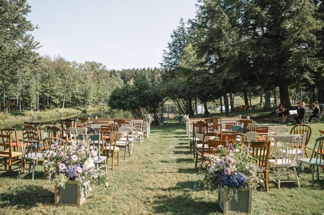 Vintage chairs, benches, stool rentals in Vermont for weddings. - simply vintage rentals​​​​​