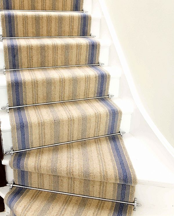 Charming The Sherwood Carpet Stair Rod In Satin Nickel And Plain Style