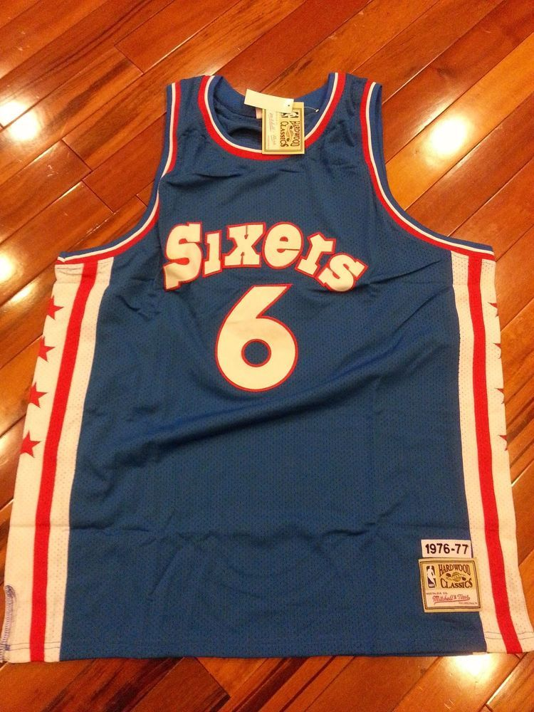 size 40 4b527 fbf4a Julius Erving Sixers 76ers Jersey Mitchell & Ness Hardwood ...