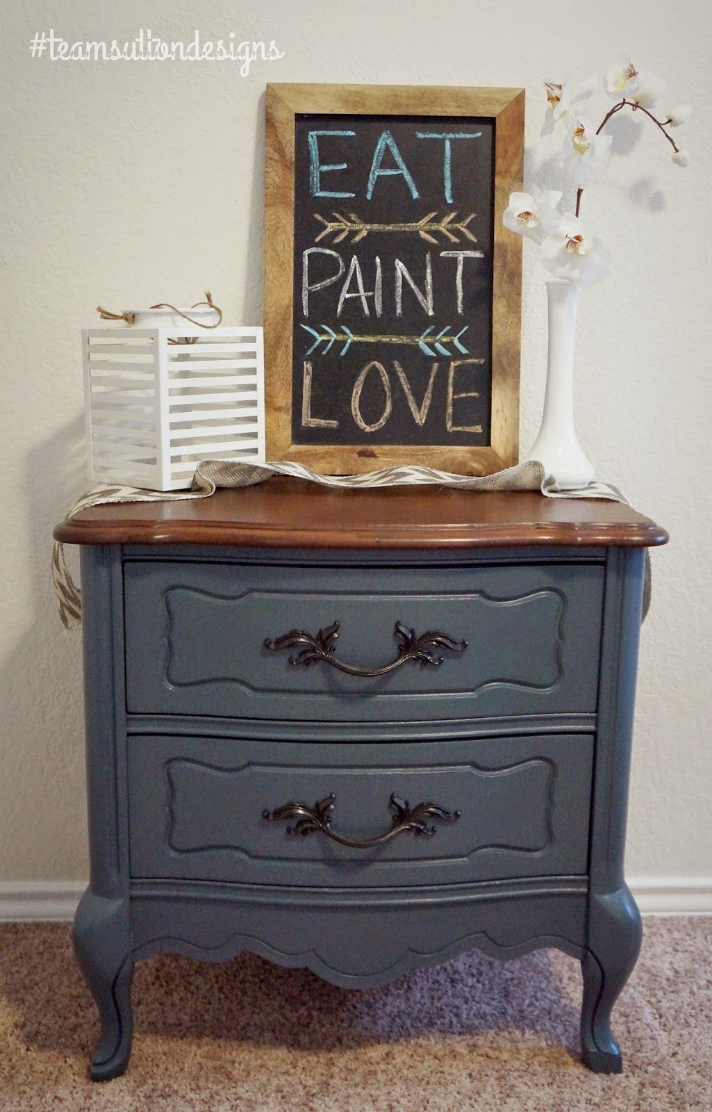 Blue Slate Nightstand Team Sutton Designs The Fat