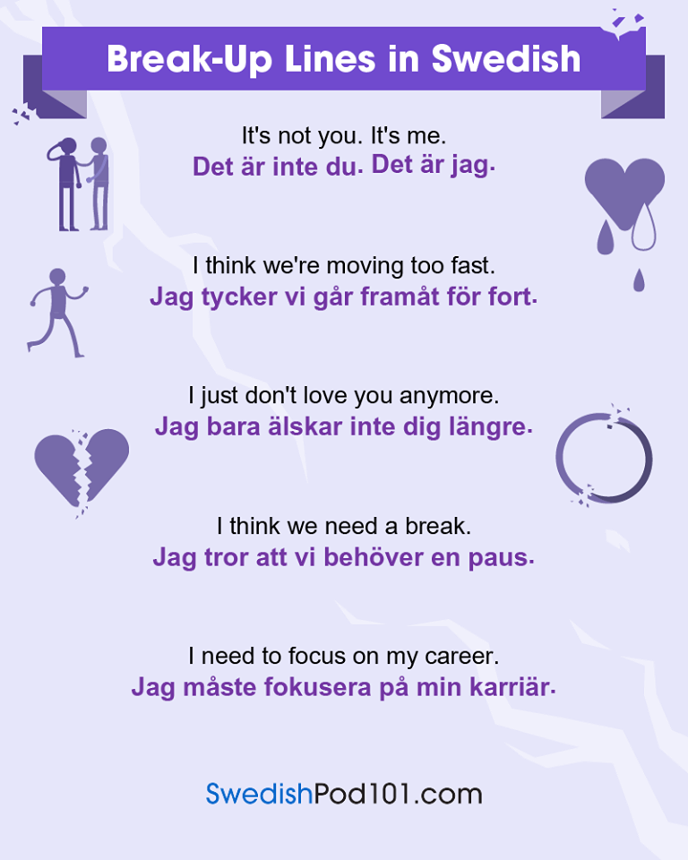 Break Up Lines In Swedish Learn Swedish Swedish Language Learn Swedish Online