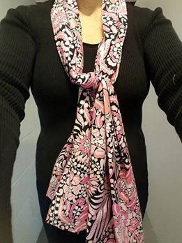 Dining Scarf Adult Bib Alternative U2013 Pretty In Pink! Cotton Scarf For  Eating Out Or Eating In. Protects From Drips U0026 Spills With Dignity