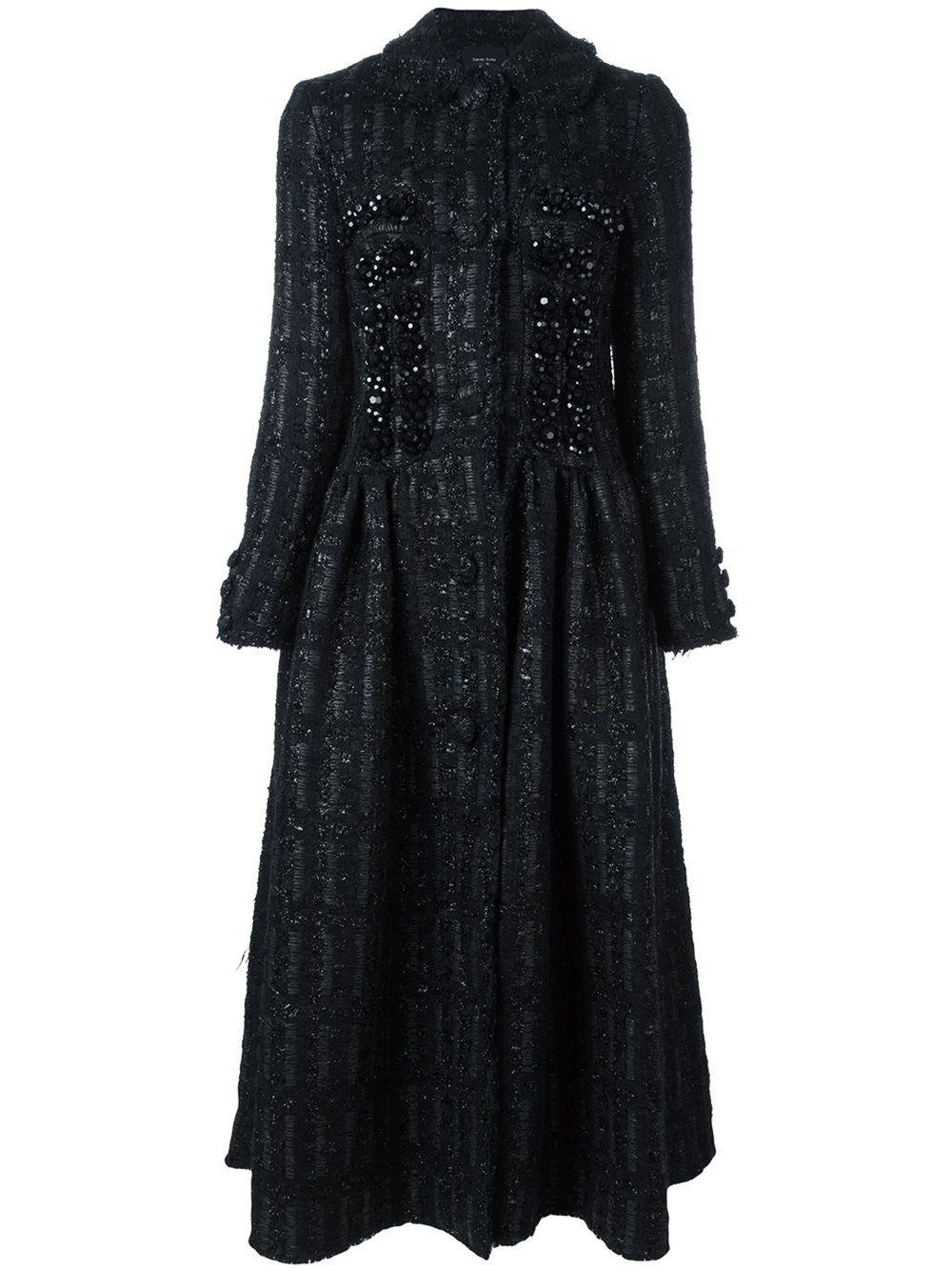cb0f28489c1ce Women's Black Embellished Princess Coat   Closet   Pinterest   Coat ...