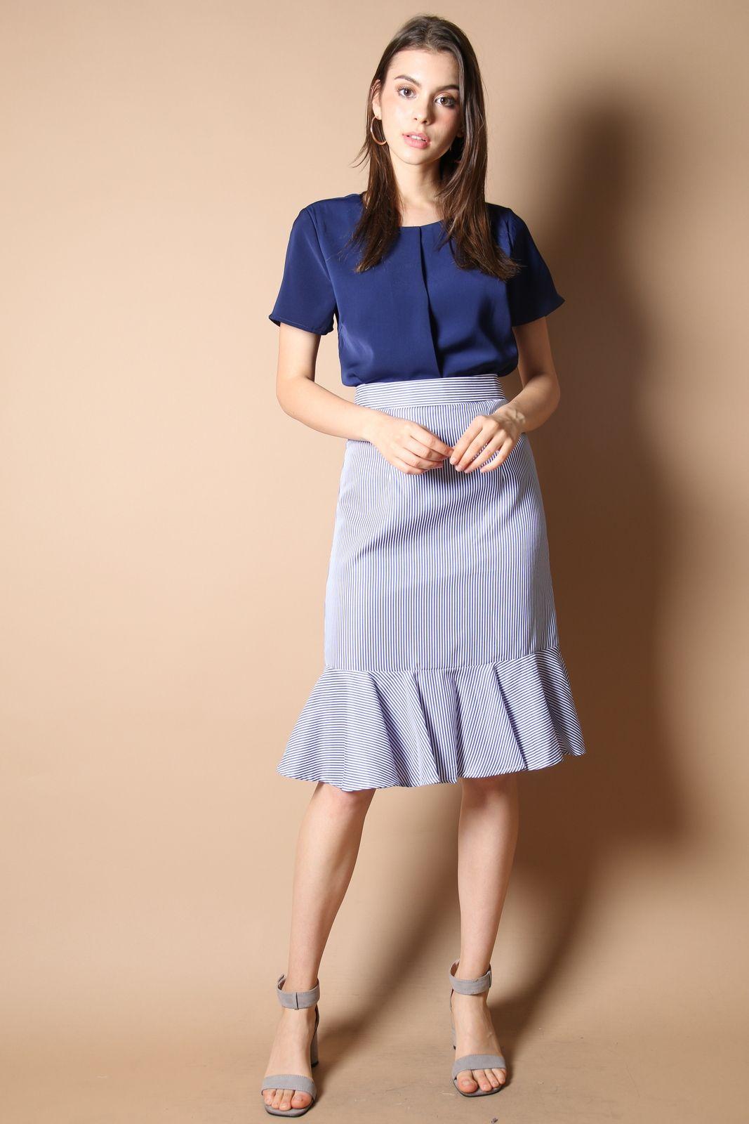 22160a5d9f Sophie High Waist Skirt in Dark Blue | Various Dresses Styles ...