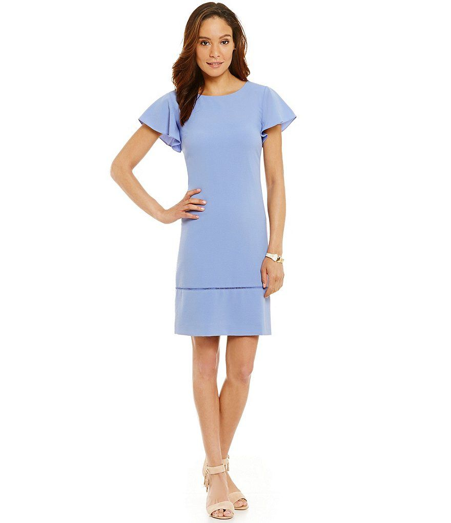 Shift dresses for wedding guests  Flutter sleeve shift dress perfect for summer everyday dress