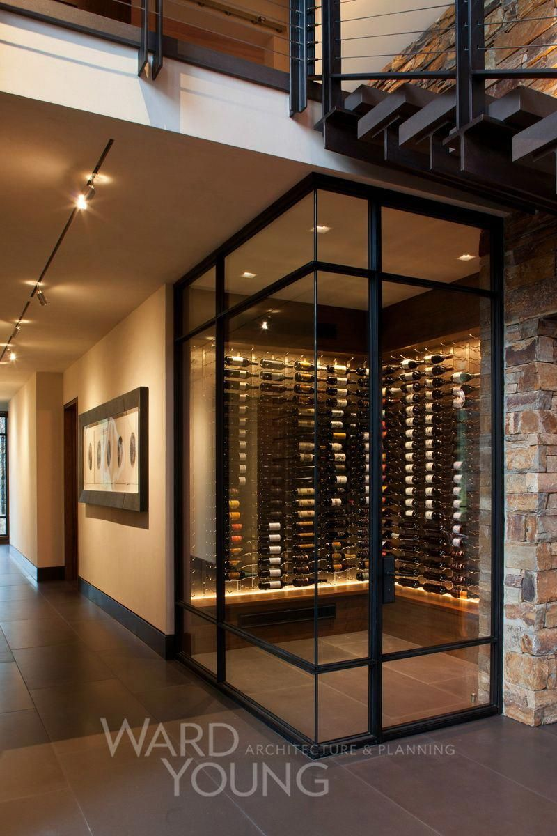 Tophomeinteriors Modern Mountain Home Home Wine Cellars Modern Home Interior Design