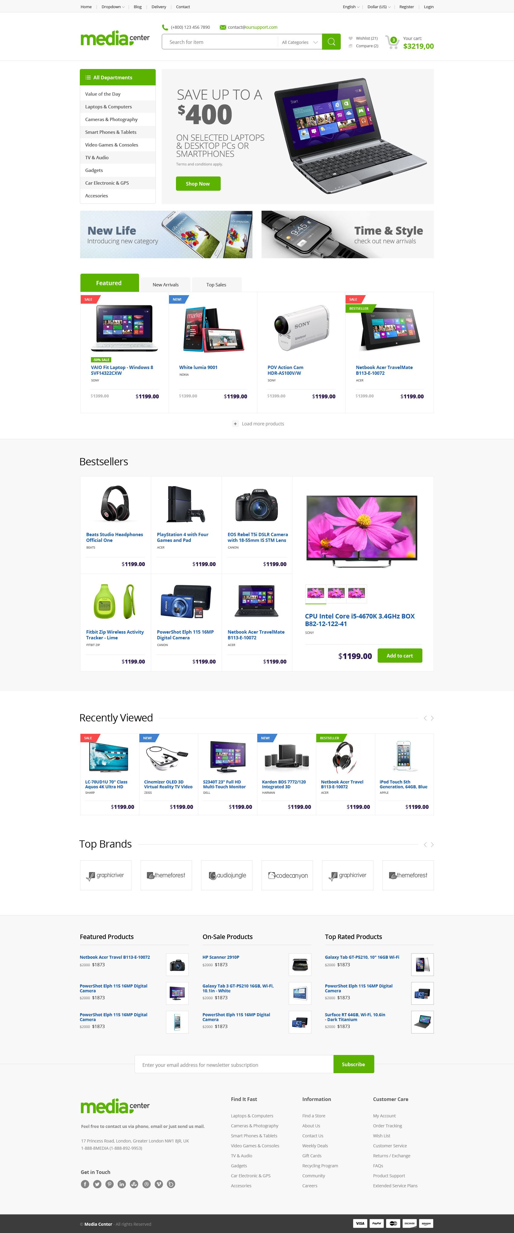 Media Center Electronics Ecommerce Psd By Bcubepl On Deviantart Woocommerce Themes Opencart Templates Ecommerce Website Template