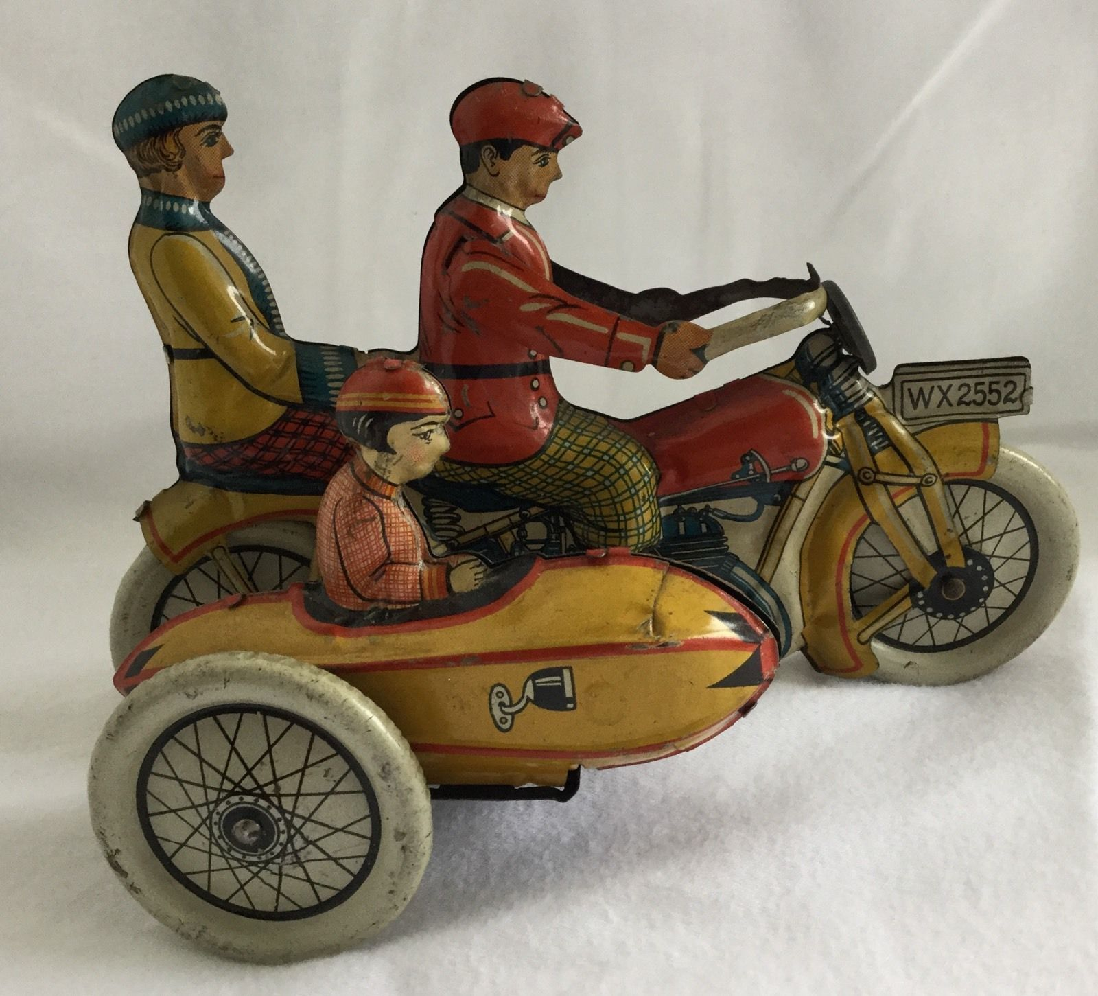 Gely Tin Motorcycle with Sidecar/ebay | Vintage Motorcycle, Scooter