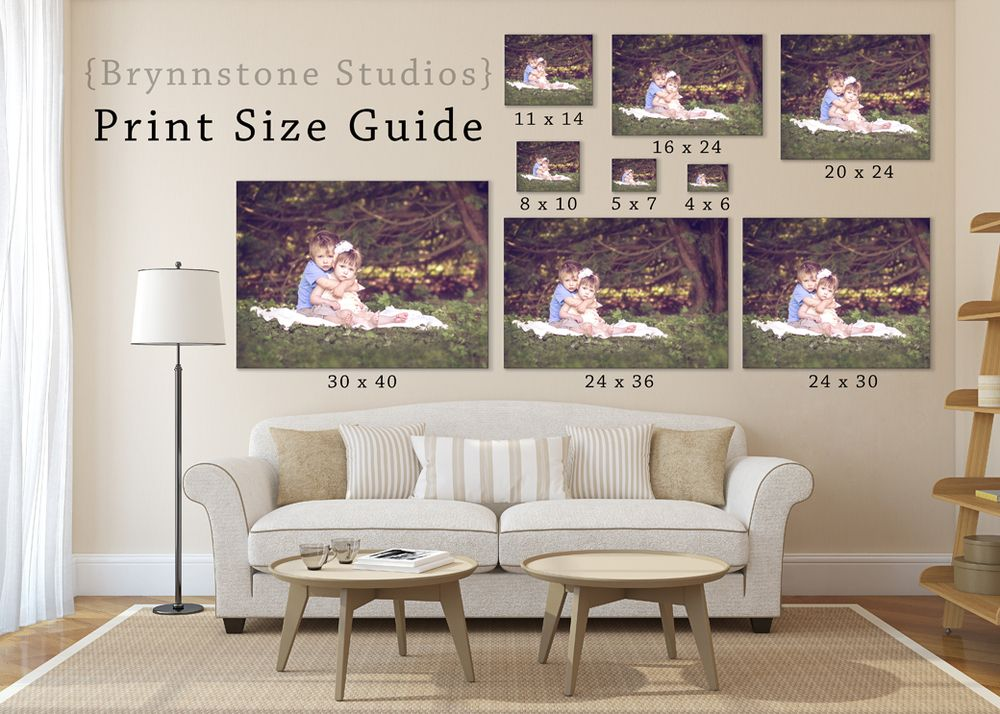 print size guide from brynnstone studios photo products
