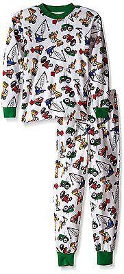 Sleepwear 84544: Sara S Prints Big Boys Pajamas Heavy Loaders Little Boys 6 -> BUY IT NOW ONLY: $50.35 on eBay!