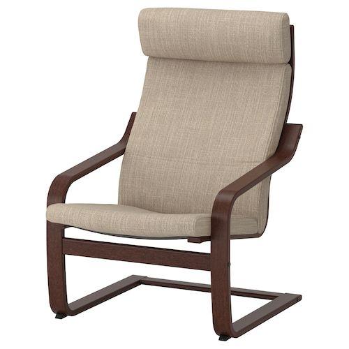 Poang Armchair Hillared Beige Seat Width 22 Get It Here Ikea In 2021 Ikea Chair Ikea Poang Chair Ikea Armchair