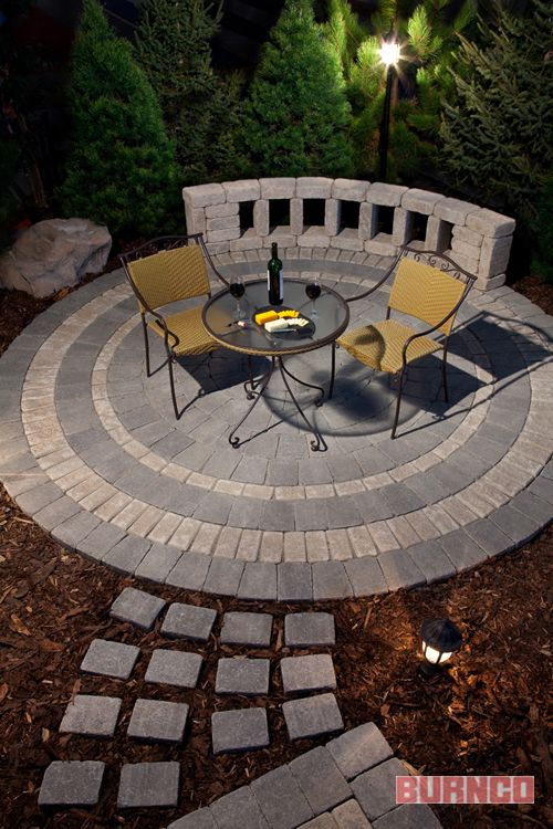 Oasis Circle Patio Kit With Path Transition Https://www.burncolandscape.com
