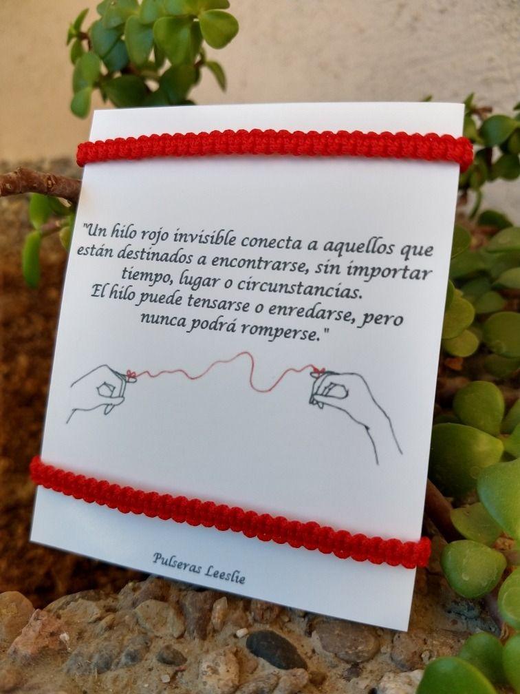 Hilo Del Destino Pulseras Con Mensaje Hacer Pulseras Bisuteria Pulseras De Hilo Rojo