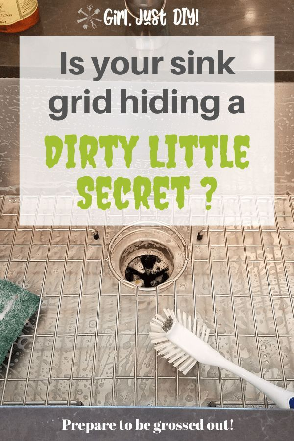 Why You Should Ditch Your Sink Grid Now Girl Just Diy In 2020 Sink Grid Clean Kitchen Sink Kitchen Sink Grate