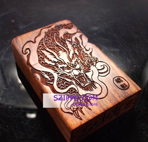 Japanese Designs Brave Troops Wooden Zippo