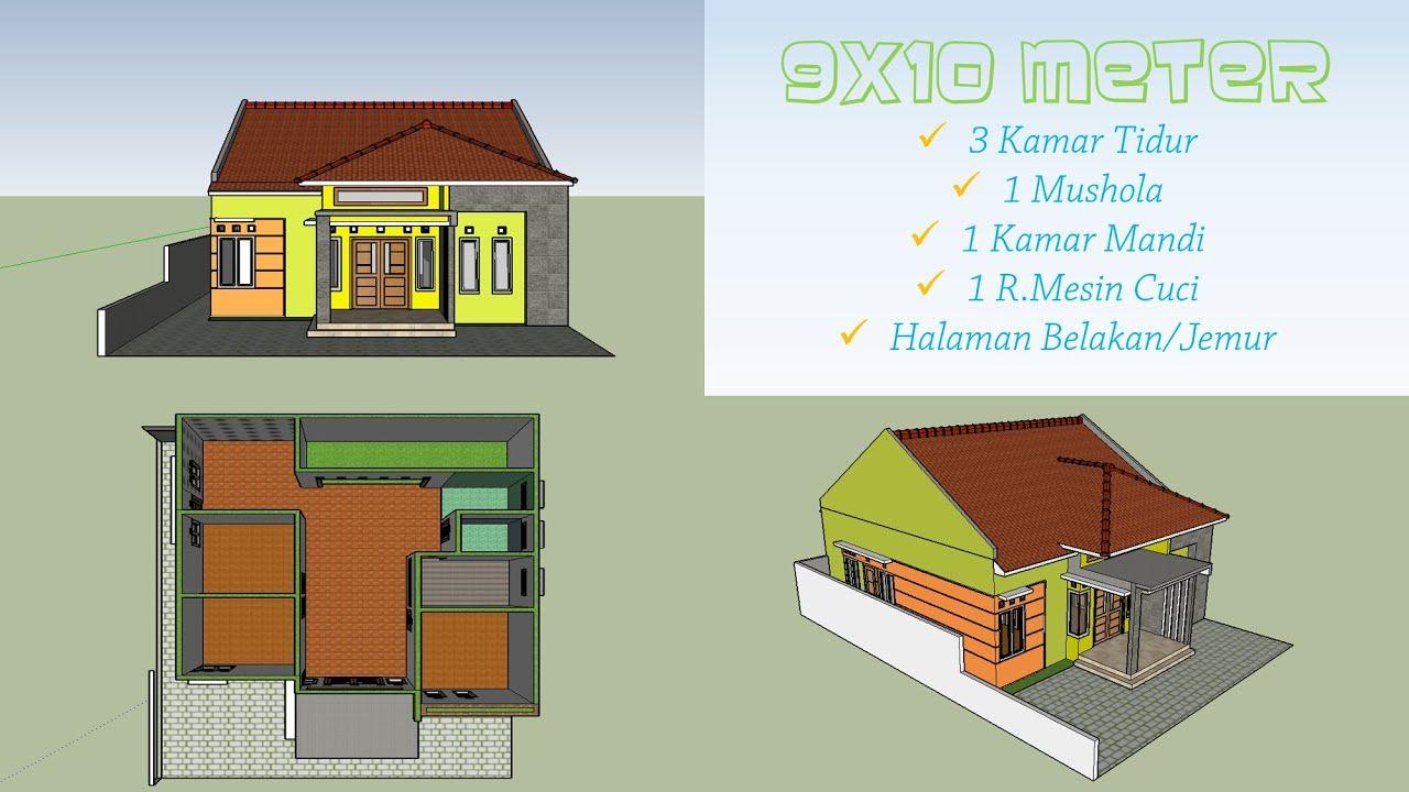 Contoh Model Desain Denah Rumah Bentuk Minimalis Ukuran 9x10 1 Lantai 3 Denah Rumah Home Fashion Rumah