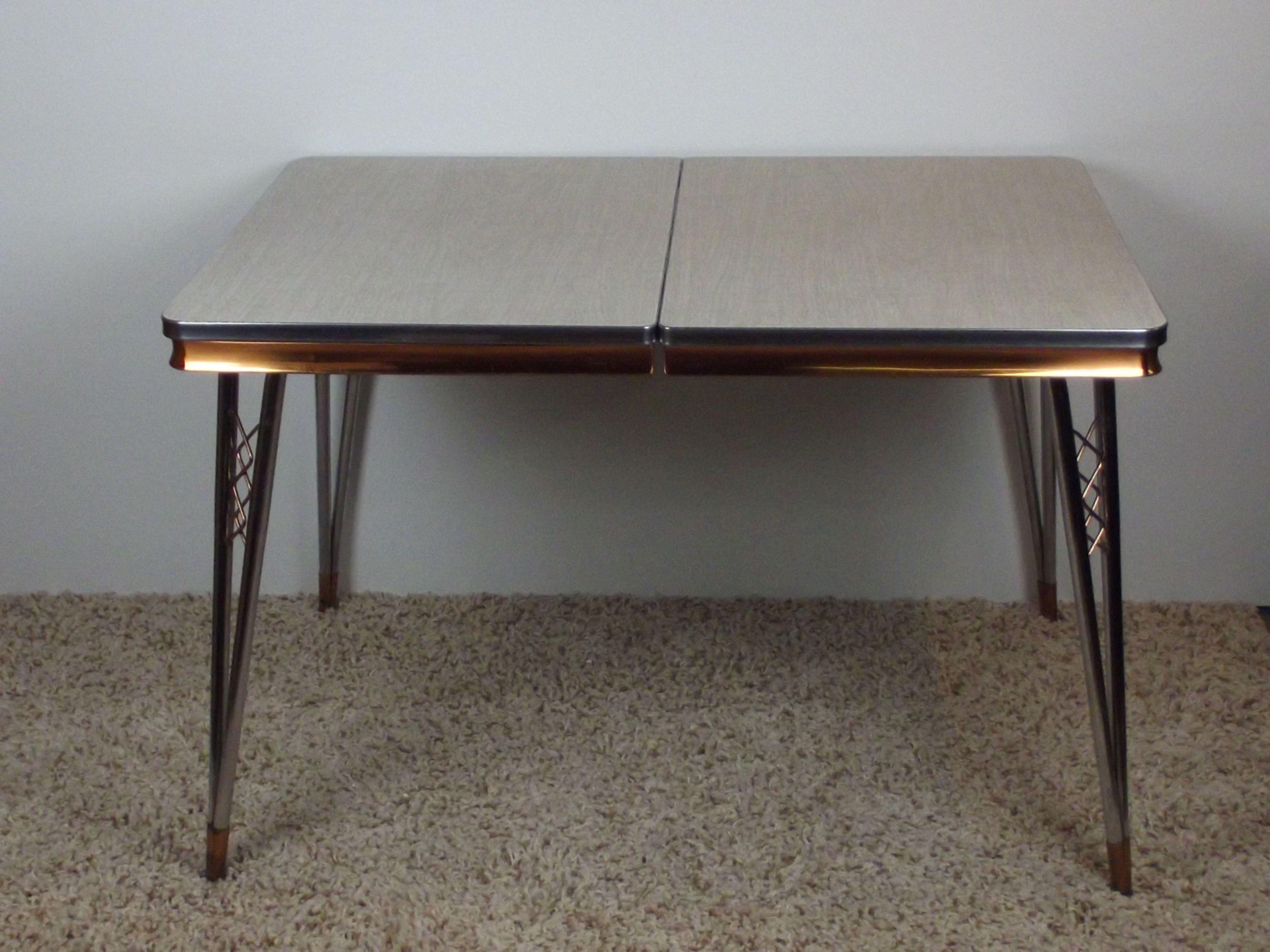Retro Formica Dining Table 1960 S Unique Copper Trim Design