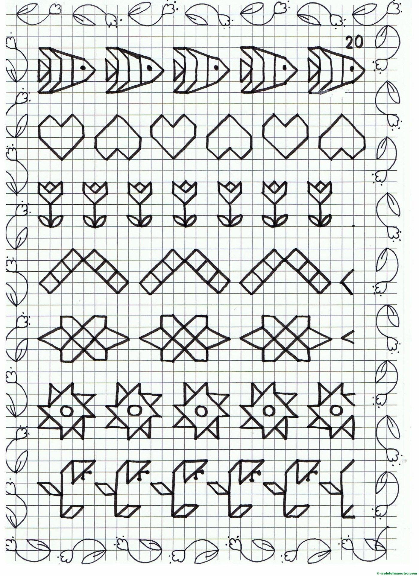 Ficha 20 Dibujos En Cuadricula Cuadricula Para Dibujar Dibujos En Cuadros