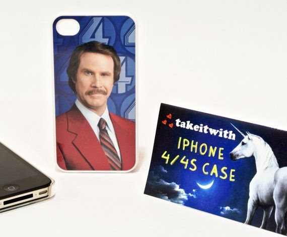 Ron Burgundy Anchorman Will Ferrell iPhone 4 or 4S by TakeItWith, $12.00