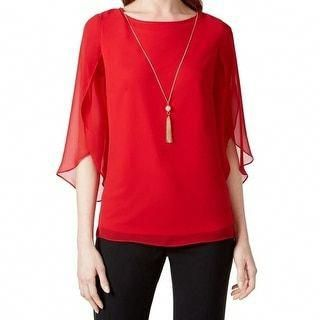 0b22f71e Shop for MSK NEW Red Women's Size Small S Embellished Flutter Sleeve  Blouse. Free Shipping