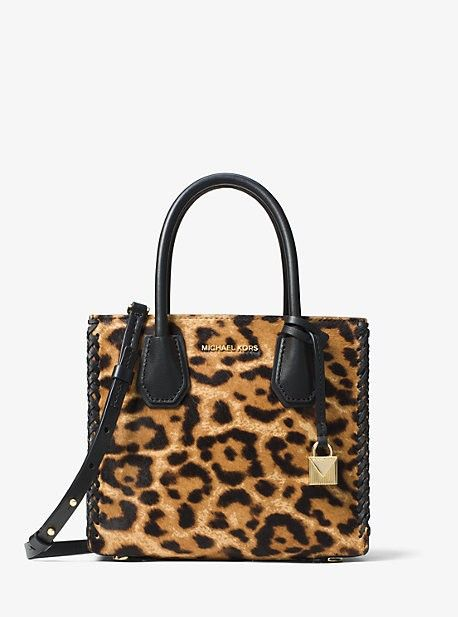 4b38368da529 ... luggage on the official Michael Kors site. Mercer Leopard Calfs hair  Crossbody