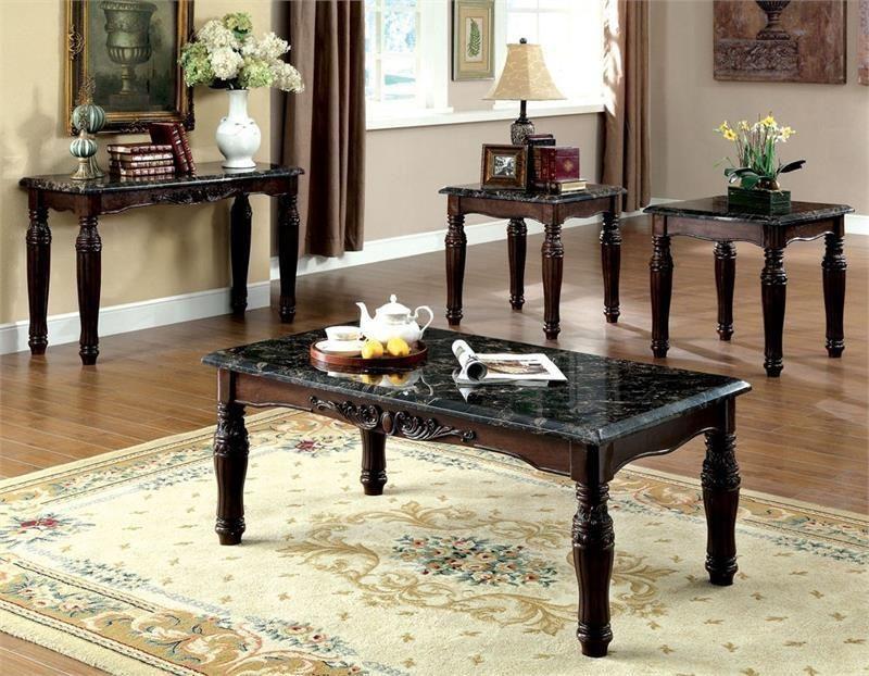 Furniture Of America Brampton 3 Pc Occasional Table Set 3 Piece