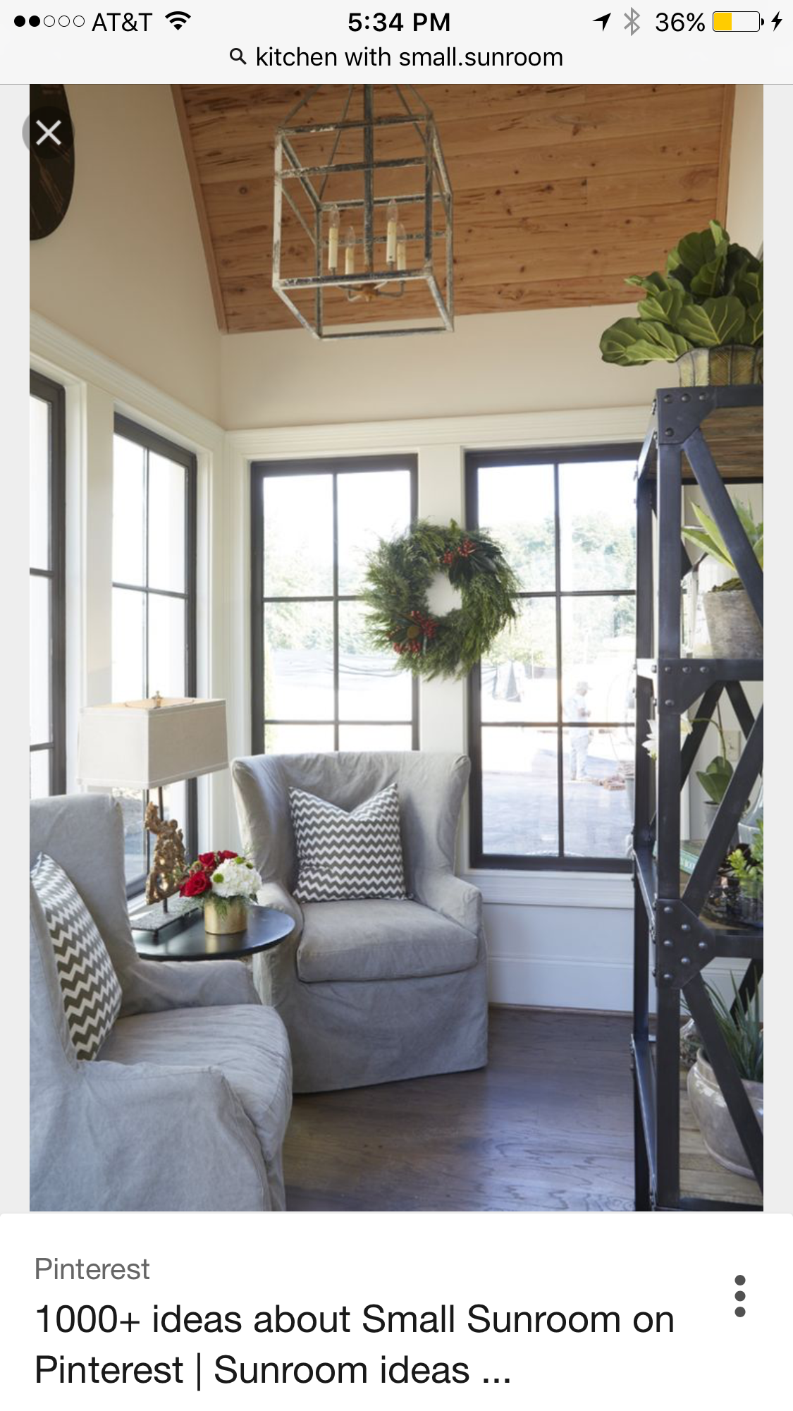 Pin by Maggie deese on Niffty ideas  Small sunroom, Sunroom