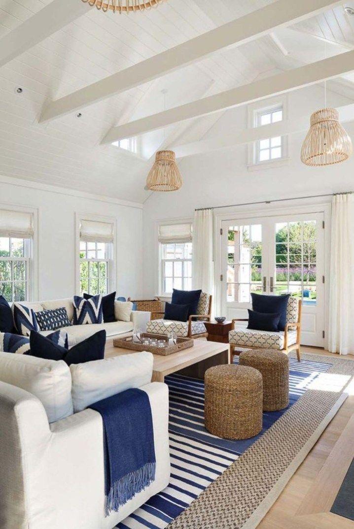30+ Comfortable Coastal Living Room Interior Ideas #coastallivingrooms