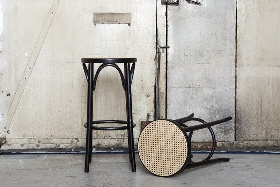Thonet style Bentwood Bar Stools via Dusty Deco on the image to see