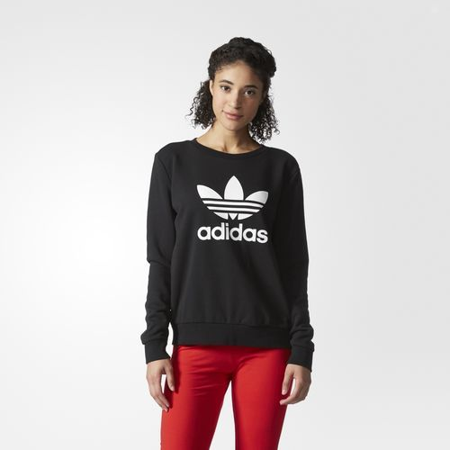 0945bc39d10b0 adidas - Felpa Trefoil Crew Negozi